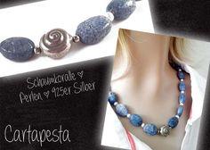 *Schaumkoralle* Kette mit 925er Silber Schnecke von Cartapesta auf DaWanda.com