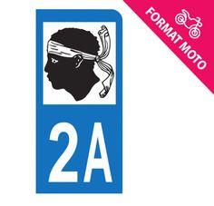 Autocollant immatriculation moto 2A - Corse du sud