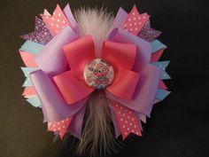 Abby Cadabby boutique hairbow por CatyRoseBows en Etsy