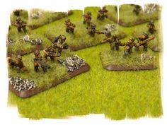 PAINTED! German  Paratrooper (FJ) Platoon: Flames of War  FOW  Open Fire 15mm