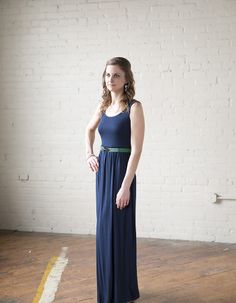 Hampton maxi dress.  Love the navy and kelly green color combination!