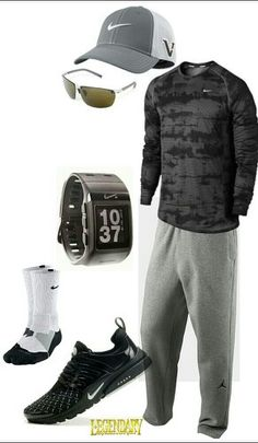 Men's Nike outfit, minus hat, watch, and glasses it would be perfect for him If you love my pins feel free to follow them!