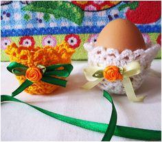 Этот мастер-класс расскажет как связать крючком поделки к Пасхе - корзиночки для пасхальных яиц.. Фото №1
