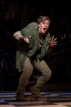 """Quasimodo in """"The Hunchback of Notre Dame"""" Broadway Theatre, Musical Theatre, Disney Animation, Animation Film, Notre Dame Musical, Michael Arden, Jesus Christ Superstar, Phantom Of The Opera, Play Houses"""