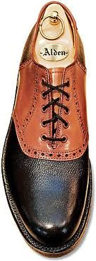 I'm a huge fan of saddle buc-style shoes...especially the reverse color scheme like these Alden's....  ~ L.