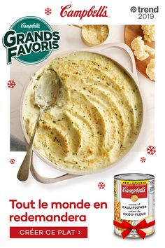 Campbell's® Condensed Cream of Cauliflower Soup is made with real cauliflower and cream to add extra flavour to holiday recipes. Tap the pin to create the dish. Cauliflower Soup Recipes, Creamy Cauliflower, Mashed Cauliflower, Veggie Side Dishes, Vegetable Dishes, Vegetable Recipes, Campbells Recipes, Keto Recipes, Cooking Recipes