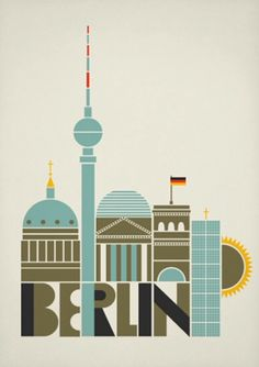 Vintage Travel berlin art and design posters Solvita Marriott - A selection of Berlin, Germany poster designs. via showusyourtype I really like the Currywurst poster which one do you like best? Le Blog Du Goumy, Such Und Find, Berlin Art, Berlin Graffiti, Retro Poster, Photo Vintage, Travel Illustration, Vintage Travel Posters, Berlin Germany
