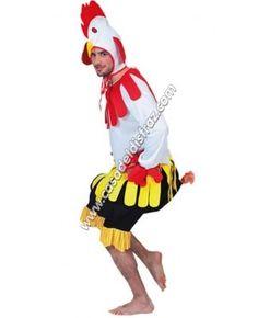 Disfraz de Gallo para hombres. #DisfracesAnimales #Carnaval http://casadeldisfraz.com