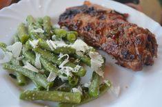 Fotorecept: Zelená fazuľka ako príloha Pork, Chicken, Kale Stir Fry, Pork Chops, Cubs