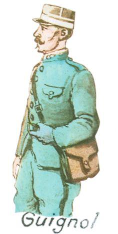 Carte Postale Postcard 1914-1918 Dessin Guignol Drawing Puppet