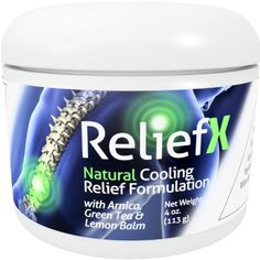 4oz Pain Relief Cream ReliefX By Naturo Sciences Best Natural Reliever of Aches in Muscles, Joints and Back May Help Aid, Ease, and Control Discomfort During Pain Management and Physical Therapy