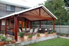 sloping lean to style pergola for outdoor sitting area Patio Diy, Backyard Patio Designs, Pergola Designs, Ikea Patio, Patio Chairs, Outdoor Pergola, Outdoor Rooms, Gazebo, Outdoor Living