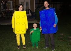 Clever and easy family costume - other great ideas, too!
