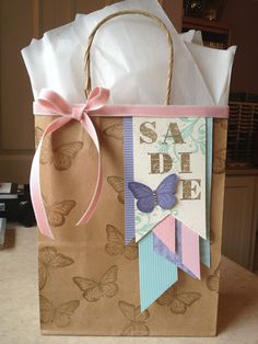 Stampin' Up! Gift Bag by Catherine Loves Stamps: Best of Butterflies Little Girl Birthday