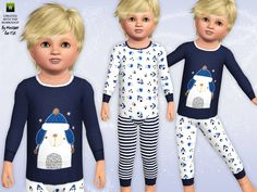 Polar Bear Pyjamas by minicart - Sims 3 Downloads CC Caboodle
