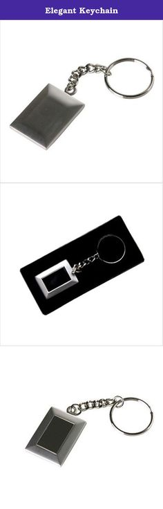 Elegant Keychain. CD-512 Features: -Elegant keychain. -Highly polished rhodium silver frame. -High quality tin case and soft foam padding. Product Type: -Key Chain. Generic Dimensions: -1. 5'' H x 1'' W. Dimensions: Overall Height - Top to Bottom: -1.5 Inches. Overall Width - Side to Side: -1 Inches.