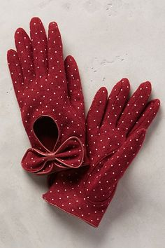 Valloire Dotty Gloves, anthropologie.