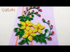 Quilling Designs | Wall Decorating Ideas | DIY Paper Crafts | HandiWorks #61 - YouTube