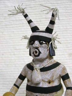 Hopi Clown (Koshare) Katsina Kachina Doll with Oranges
