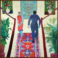 Celebrating garish colours in Andy Dixon's paintings of interiors