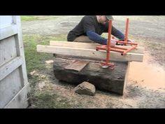 Homemade Alaskan Mill - YouTube