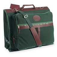 Large garment bag, green canvas
