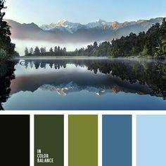 blue green color palette