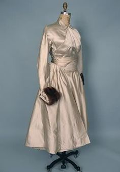 Silver Christian Dior Dinner Dress, 1949-1952.
