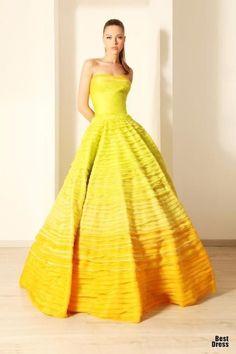 Rami Kadi HOUTE COUTURE 2012 Rami Kadi High Fashion Haute Couture featured fashion #yellow
