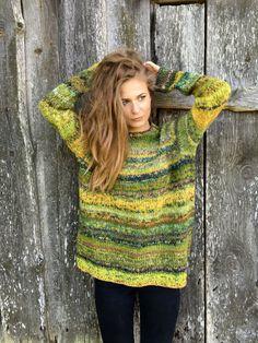 Groene trui Chunky trui vrouw trui Plus size trui van adaLV op Etsy
