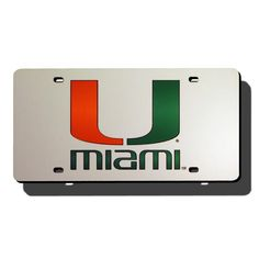 Miami Hurricanes NCAA Laser Cut License Plate Cover