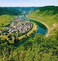 Fairytale like river village in Europe ///