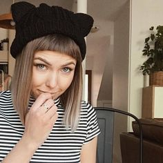 6286d51c65b2ec Inspire Uplift Beanie Black Meow Beanie Lovers And Friends, Boy Bands, Cat  Ears,