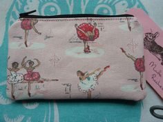 Handmade Coin Purse Cath Kidston Ballet Dancers Rare Fabric Makeup Bag Pouch in Clothes, Shoes & Accessories, Women's Accessories, Purses & Wallets | eBay
