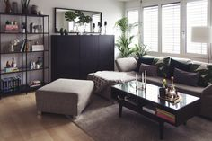 Living room update: A mix of industrial style and feel-good oasis Small Living Rooms, Living Room Update, Industrial Style, Room Update, Furniture, Interior, Living Room Furnishings, Room, Room Decor