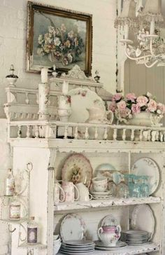 Antique dishes I would love to have this in my dining room