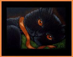 Art: Black Cat 7 - Halloween by Artist Cyra R. Cancel