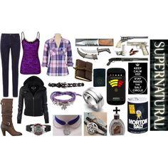 """SPN Hunter in Purple"" by lexaphoenix on Polyvore - Supernatural"