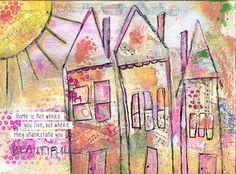 Mixed Media Art Print: Home Again  Available for purchase at etsy.com/kimberlykalildesigns