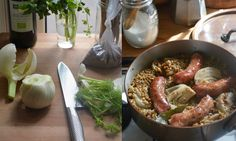 Rachel Roddy's recipe for lentils with fennel and sausages | A Kitchen in Rome | Life and style | The Guardian