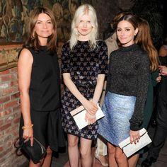 Olivia Palermo - Smiles all around at NET-A-PORTER celebratory dinner for designer @Victoria Beckham.