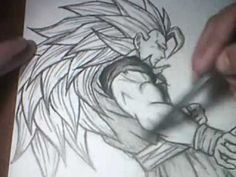 Drawing SS 3 Goku