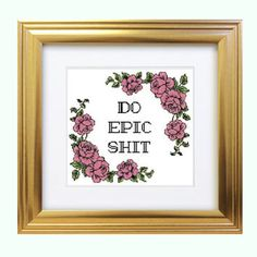Best Funny Cross Stitch Products on Wanelo