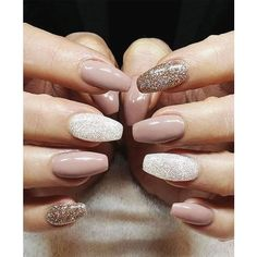 50 Beautiful Nail Designs to Try This Winter ❤ liked on Polyvore featuring beauty products and nail care