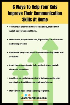 6 ways to help your kids improve their commun Communication Skills Activities, Improve Communication Skills, Communication Relationship, Effective Communication, Improve Writing Skills, Job Help, Problem Solving, Helpful Hints, How To Plan
