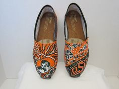 Oklahoma State University shoes. via Etsy.