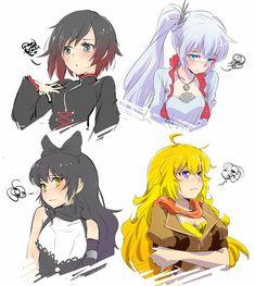 Fanart Rwby, Rwby Anime, Fanarts Anime, Yuri, Persona Anime, Red Like Roses, Rwby Red, Rwby Comic, Rwby Ships