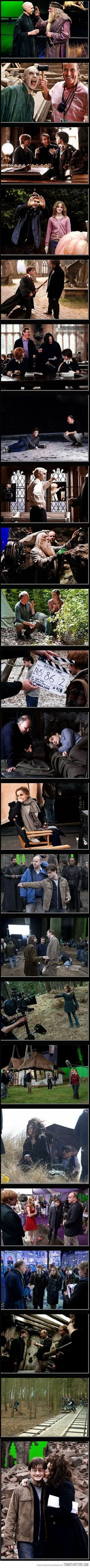Shots from the set of Harry Potter