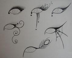 Printable Eyelash Stencils   basic swirly design, but a little bit goes a long way (especially ...