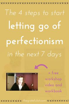 Busting through perfectionism